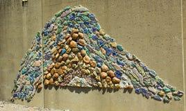 在墙壁上的岩石在圣路易, MO 库存照片