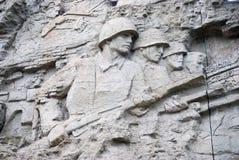 在墙壁上的巨大战争` s场面 免版税图库摄影