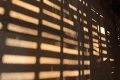 在墙壁上的影子 免版税库存图片