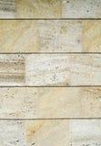 在墙壁上的新的石金属板材 免版税图库摄影