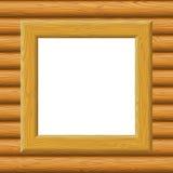在墙壁上的木框架 库存照片
