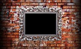 在墙壁上的框架 库存图片