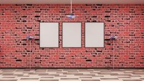 在墙壁上的框架 免版税库存图片