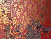 在墙壁上的泰国模式 库存图片