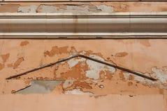 在墙壁上的潮湿的湿气 库存图片