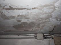 在墙壁上的潮阴阴湿气 库存照片