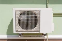 在墙壁上的空气压缩机 免版税库存照片