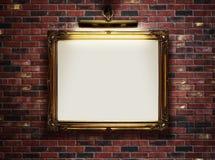 在墙壁上的空的框架 免版税库存图片