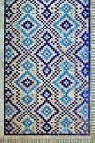 在墙壁上的老东部马赛克,乌兹别克斯坦 免版税图库摄影