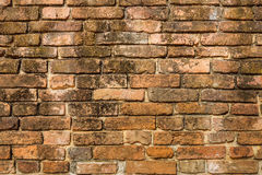 在墙壁上的老砌砖工 库存照片