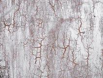 在墙壁上的老破裂的油漆 Grunge纹理 免版税图库摄影