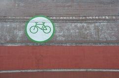 在墙壁上的自行车象在波特兰,俄勒冈 免版税图库摄影
