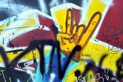 在墙壁上的街道画在冰鞋公园 库存照片