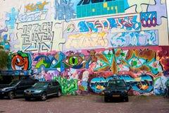 在墙壁上的街道画 图库摄影