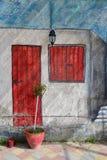 在墙壁上的街道画 免版税库存图片