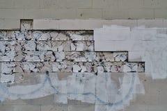 在墙壁上的被抹上的街道画 免版税库存照片