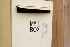 在墙壁上的邮箱 免版税库存照片