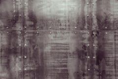 在墙壁上的金属纹理 图库摄影
