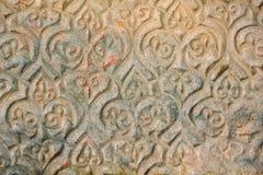 在墙壁上的阿拉伯中世纪装饰品 免版税库存图片