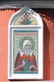在墙壁上的马赛克图标 免版税库存照片