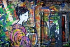 在墙壁上的Artstreet    免版税库存照片