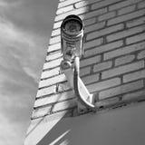 在墙壁上的CCTV 库存图片