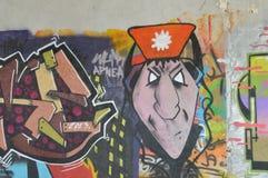 在墙壁上的Graffitti 免版税图库摄影