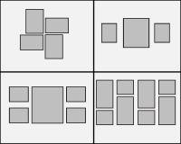 在墙壁上设置的空白的照片框架 现代内部传染媒介例证的设计 皇族释放例证