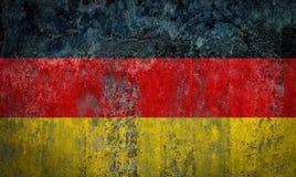 在墙壁上绘的德国旗子 免版税库存照片