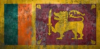 在墙壁上绘的斯里兰卡旗子 免版税图库摄影