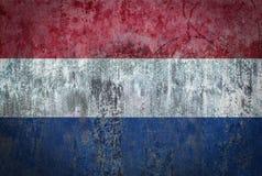 在墙壁上绘的荷兰旗子 库存图片