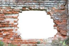 在墙壁的孔 库存图片