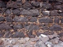 在墙壁的岩石 库存照片