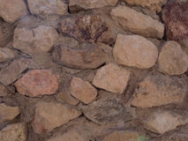 在墙壁的岩石 免版税库存图片