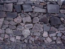 在墙壁的岩石 库存图片