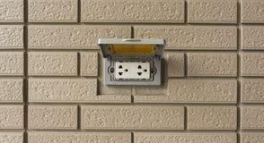 在墙壁的插口 免版税库存图片