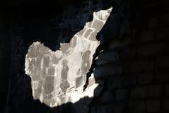 在墙壁的漏洞 免版税库存图片