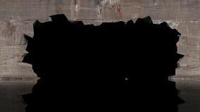 在墙壁的漏洞 库存例证