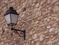 在墙壁的灯 库存照片