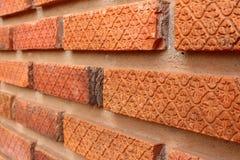 在墙壁的特写镜头砖 免版税库存照片