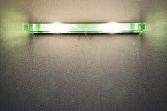 在墙壁的现代灯 免版税库存图片