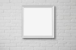 在墙壁的空白的画框 库存图片