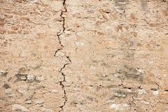 在墙壁的裂缝 免版税图库摄影