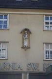 在墙壁的雕象 库存照片