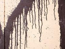 在墙壁的水滴油漆 图库摄影