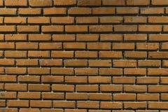 在墙壁背景的橙色砖 免版税库存照片