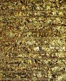 在墙壁背景的镀金的寺庙 库存照片