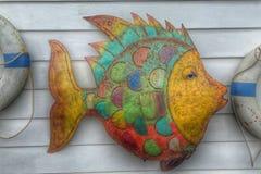 在墙壁艺术的鱼 免版税库存照片