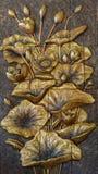 在墙壁装饰的莲花绘画 库存照片