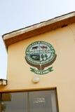 在墙壁,坦桑尼亚上的恩戈罗恩戈罗保护区象征 库存照片